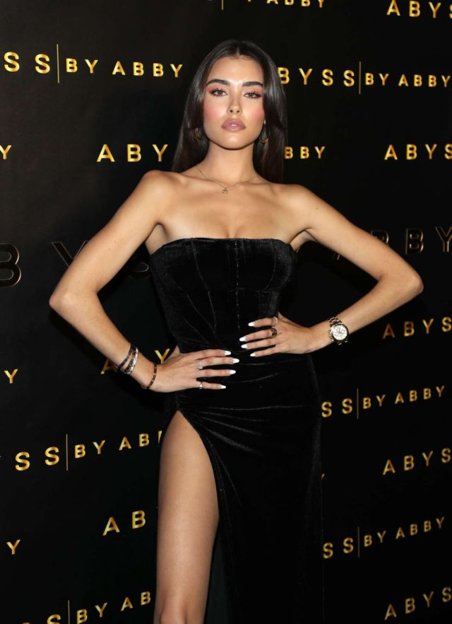 Stunning Madison Beer Attends Abyss By Abby Launch At Beauty & Essex In LA
