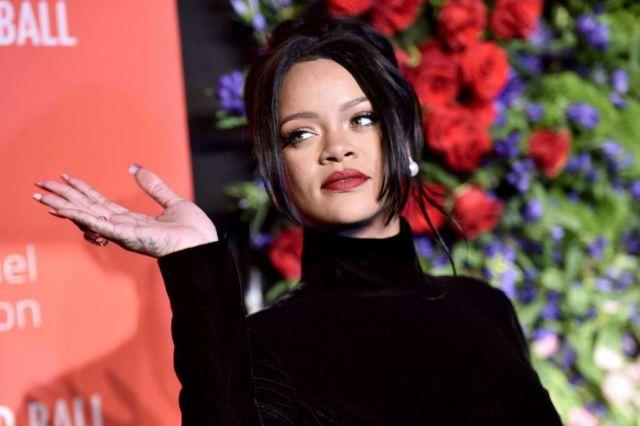 Rihanna Shines In Black At Rihanna's 5th Annual Diamond Ball Event