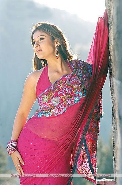 Nayantara in Red Saree