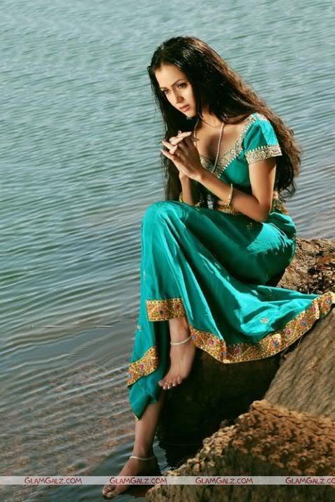 Cute Nila in Traditional Indian Dress
