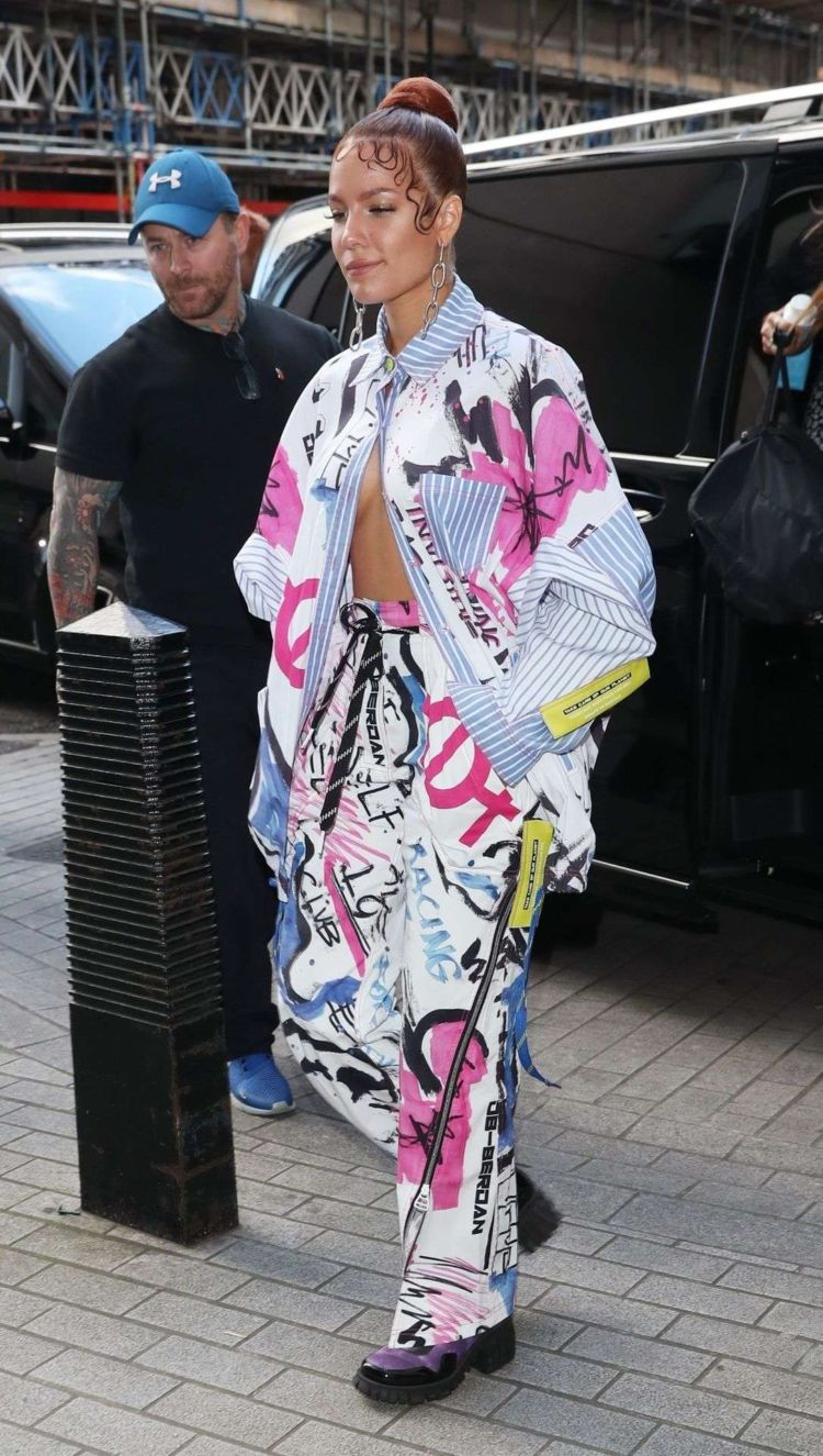 Halsey Spotted Outside BBC Live Lounge In London