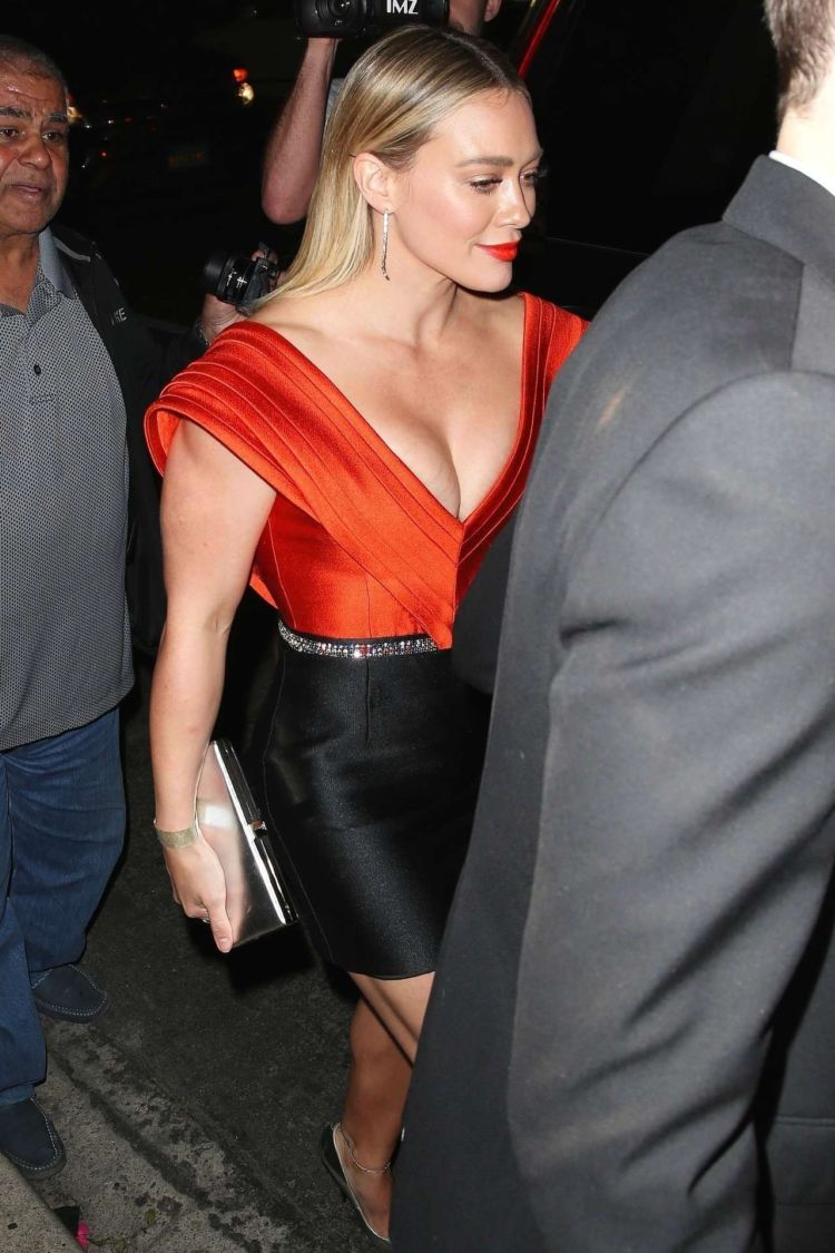 Hilary Duff Spotted Leaving The 5th Annual Baby Ball In Hollywood