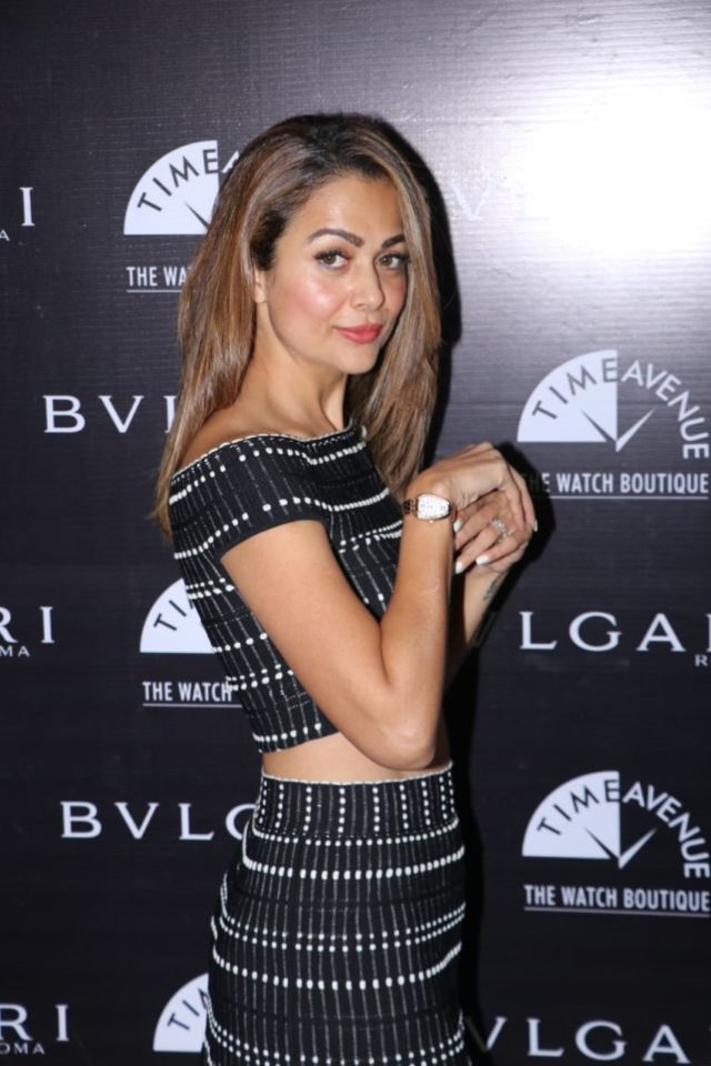 Amrita Arora Attends The Bvlgari Roma And Time Avenue Watch Launch Event