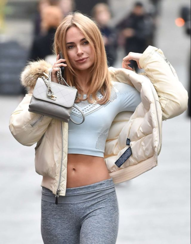 Charming Kimberley Garner Spotted Out In London