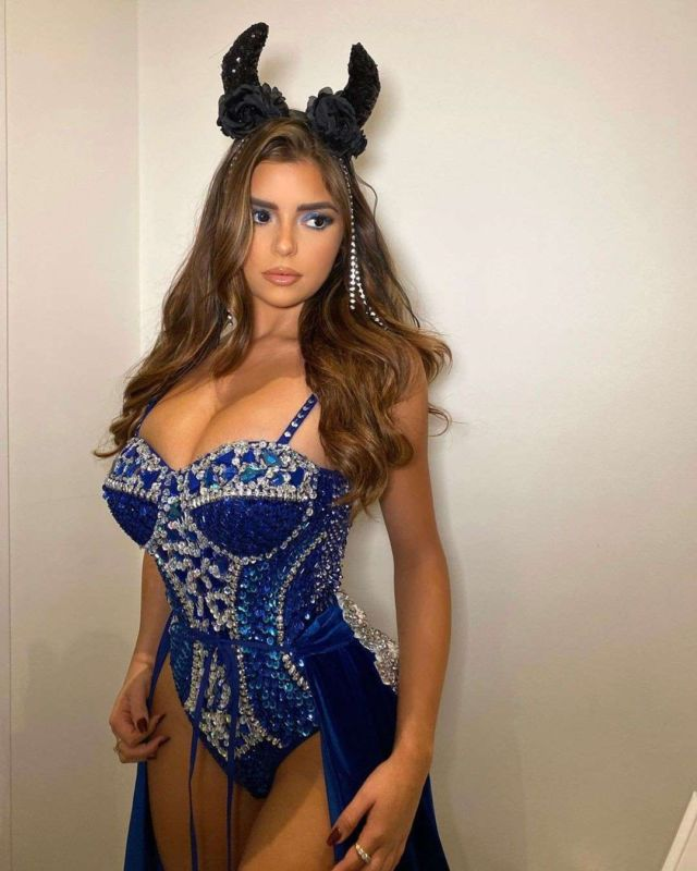 Demi Rose Mawby Dressed In Style For Halloween Party In Mayfair
