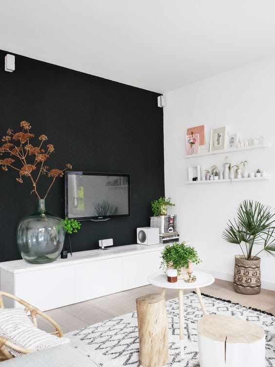 Gorgeous Living Rooms With Black Walls | Techlap.com