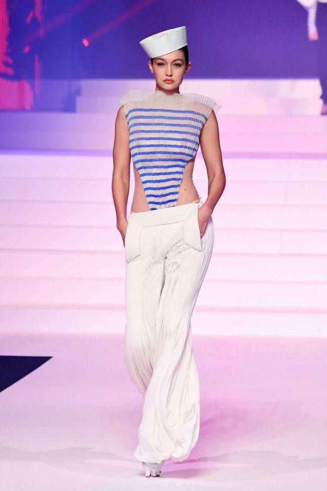 Gigi Hadid Walks For Jean-Paul Gaultier 2020 Fashion Show At Paris Fashion Week