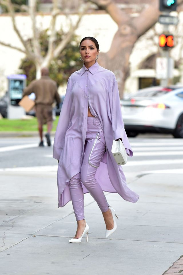 Stunning Olivia Culpo Spotted Leaving A Meeting In Santa Monica