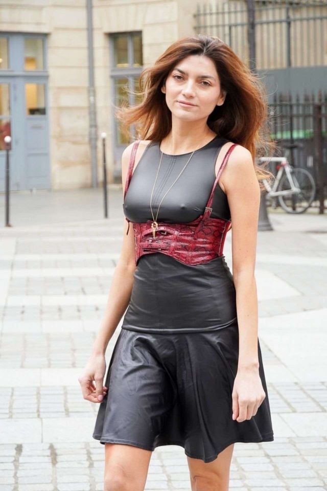Blanca Blanco Photoshoot In Black Frock Out In Paris