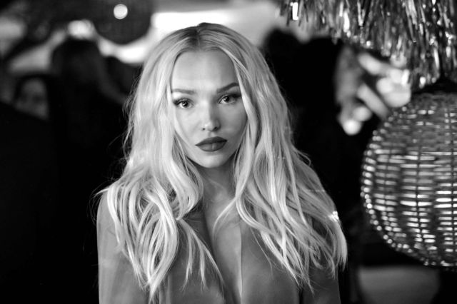 Dove Cameron In A Red Dress At Vanity Fair & Lancome Toast Women In Hollywood Event