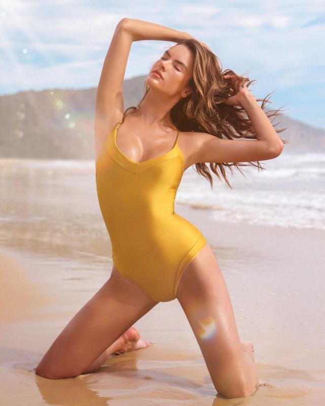 Alessandra Ambrosio Showcasing Gal Firopa Swimwear Collection 2020