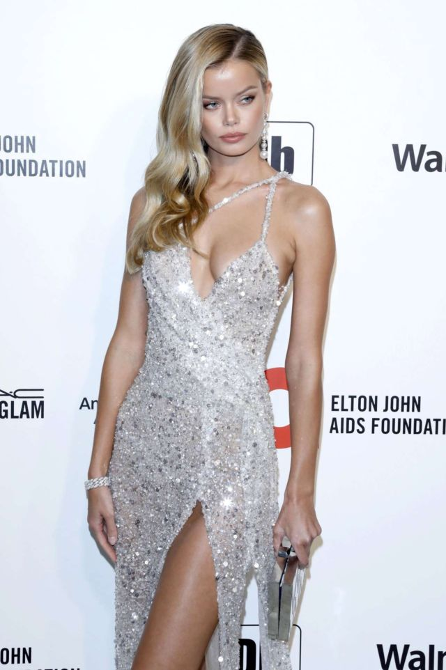 Stunning Frida Aasen At The Oscar Viewing Party In Los Angeles