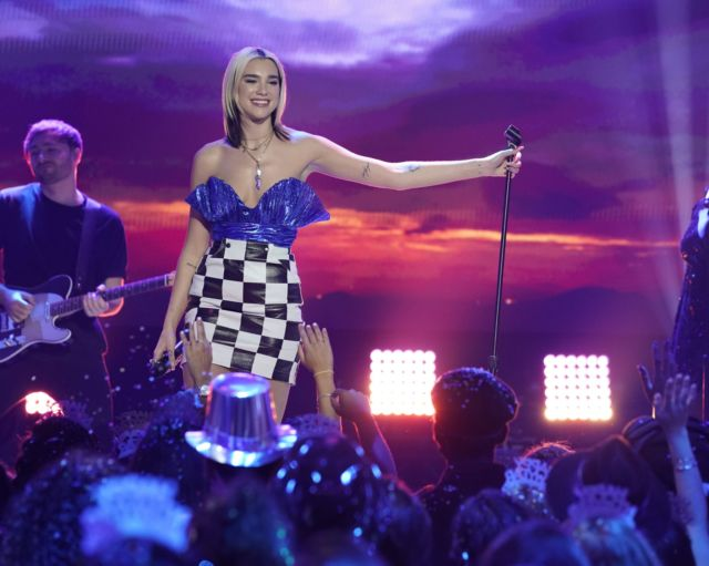 Dua Lipa Performs At Dick Clark's Rockin' Eve With Ryan Seacrest 2020 Hollywood Party
