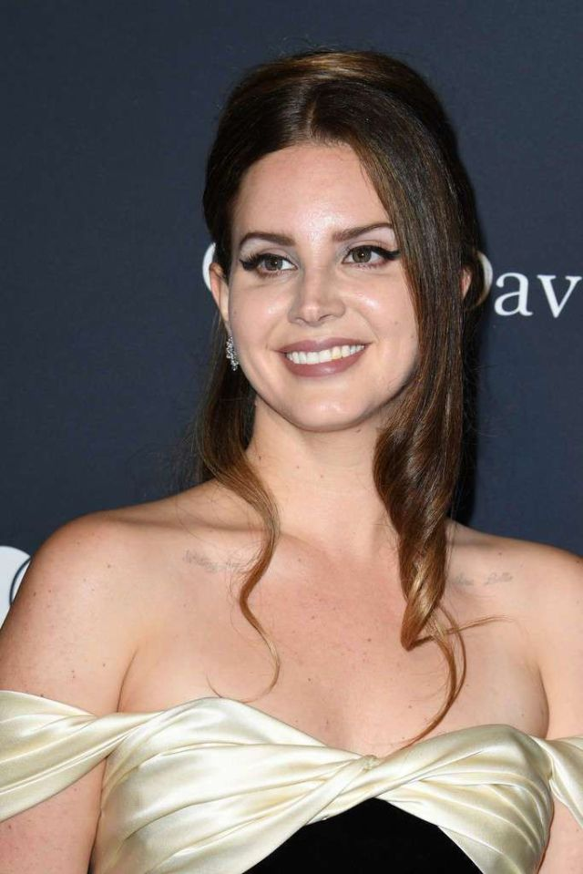 Gorgeous Lana Del Rey At The Pre-GRAMMY Gala & GRAMMY Salute to Industry Icons