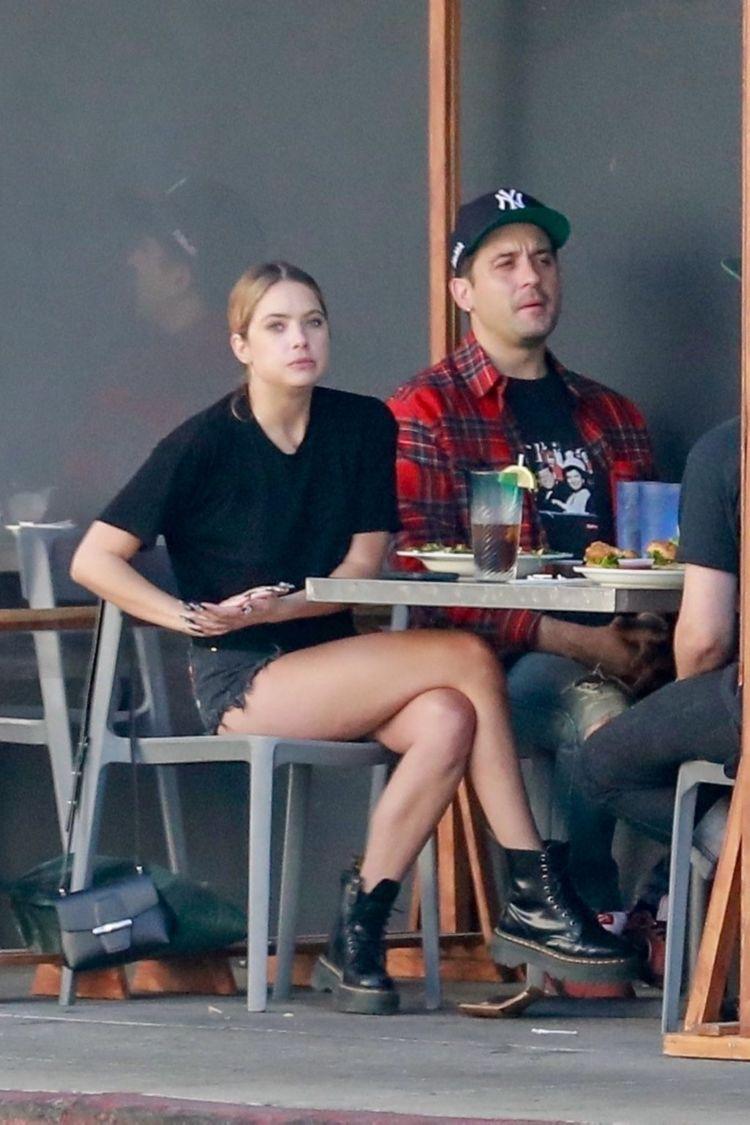 Ashley Benson Spotted At Mustard Seed Cafe In Los Angeles