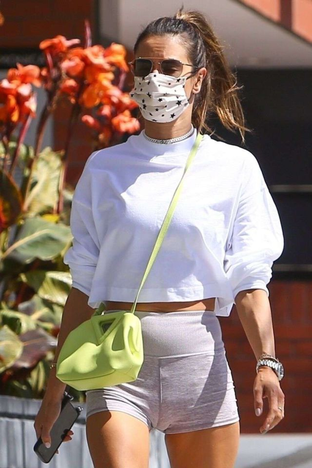 Alessandra Ambrosio Candids In Shorts Out In Brentwood