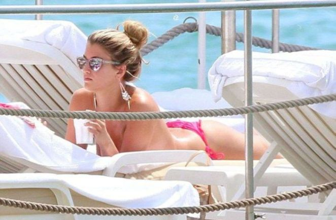 Amy Willerton Spotted Sunbathing On A Yacht In Cannes