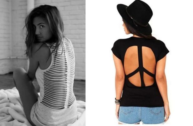 The 25 DIY Trendy T-Shirt Cutting Designs You Can Try On | Funotic.com