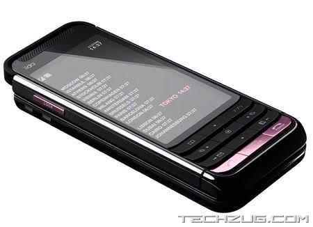 KDDI iida G9 Slider Mobile Phone