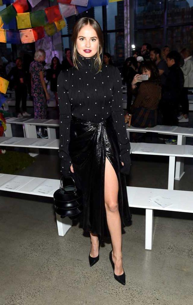 Debby Ryan In Black At Prabal Gurung Fashion Show