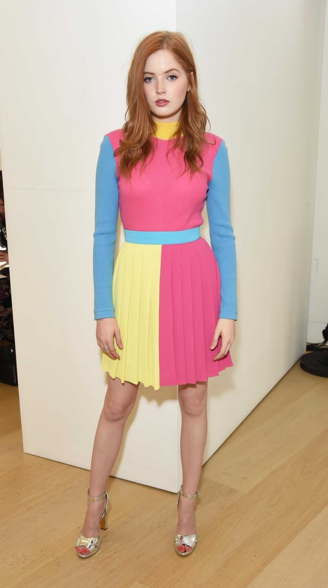 Pretty Ellie Bamber At Emilia Wickstead Show At LFW 2018