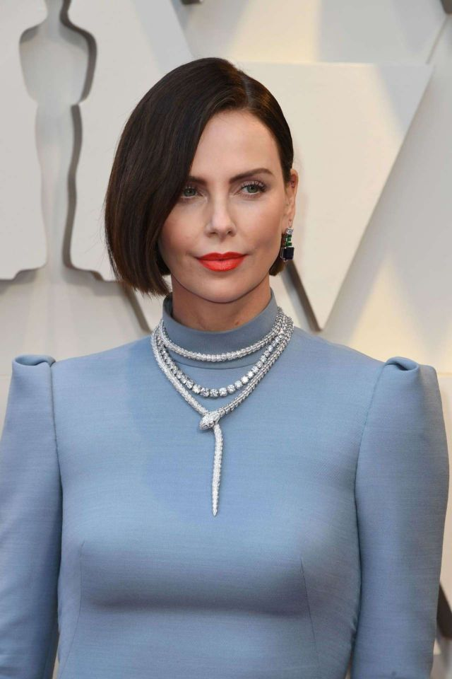 Gorgeous Charlize Theron Attends Academy Awards 2019