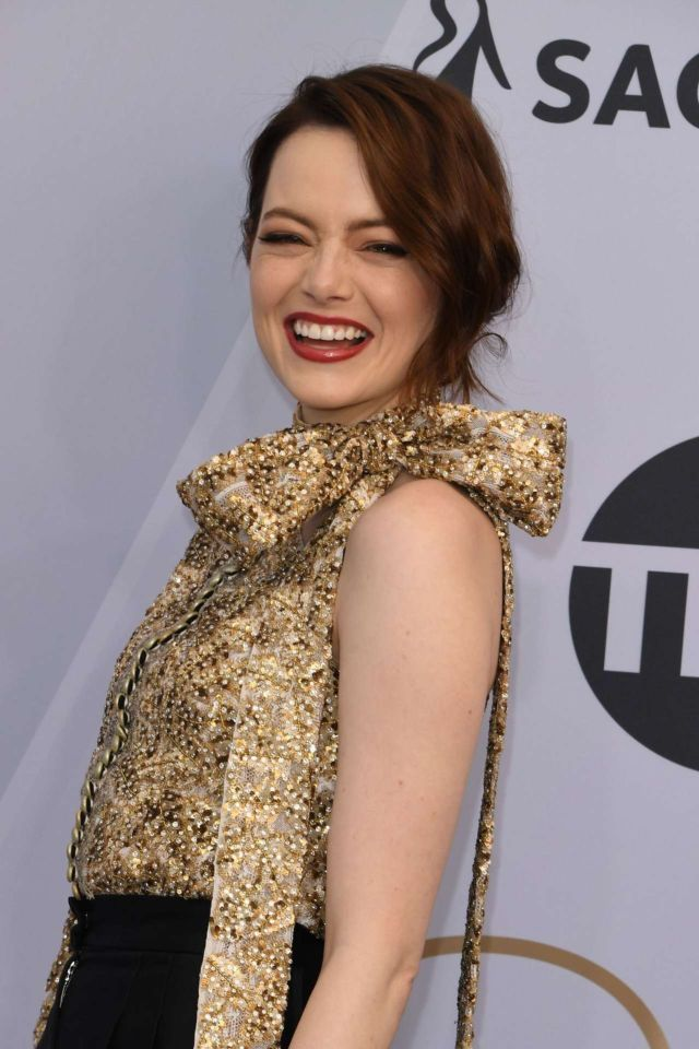 Emma Stone Attends 25th Annual Screen Actors Guild Awards