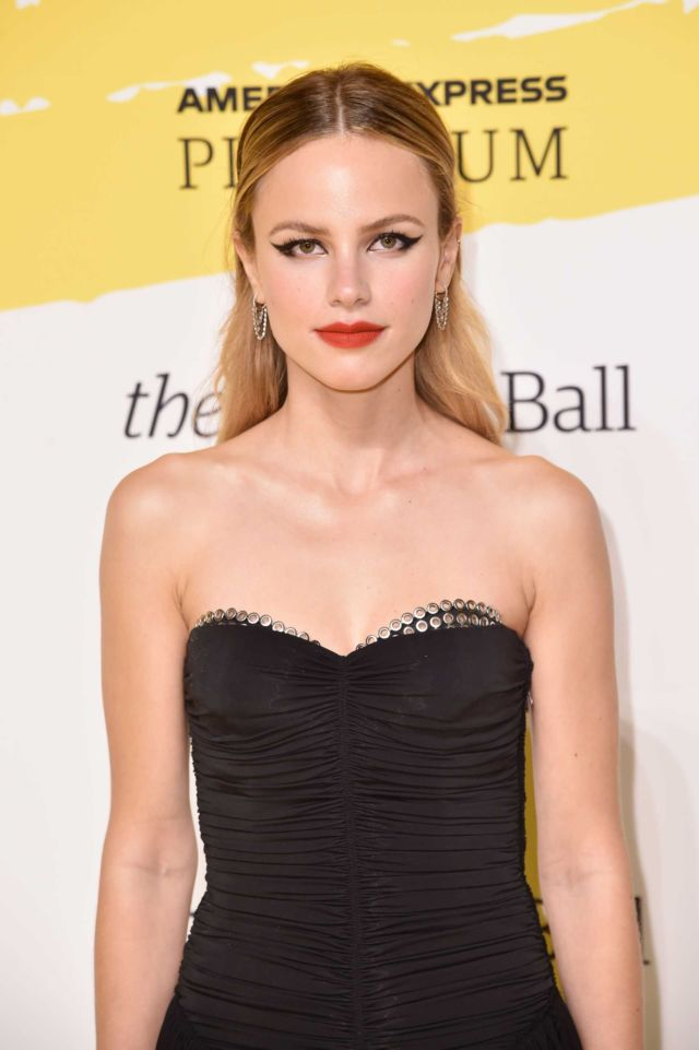 Halston Sage Shines At Yellow Ball In Brooklyn