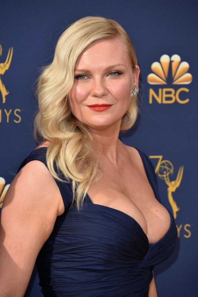 Kirsten Dunst Returns To Red Carpet At Emmy Awards