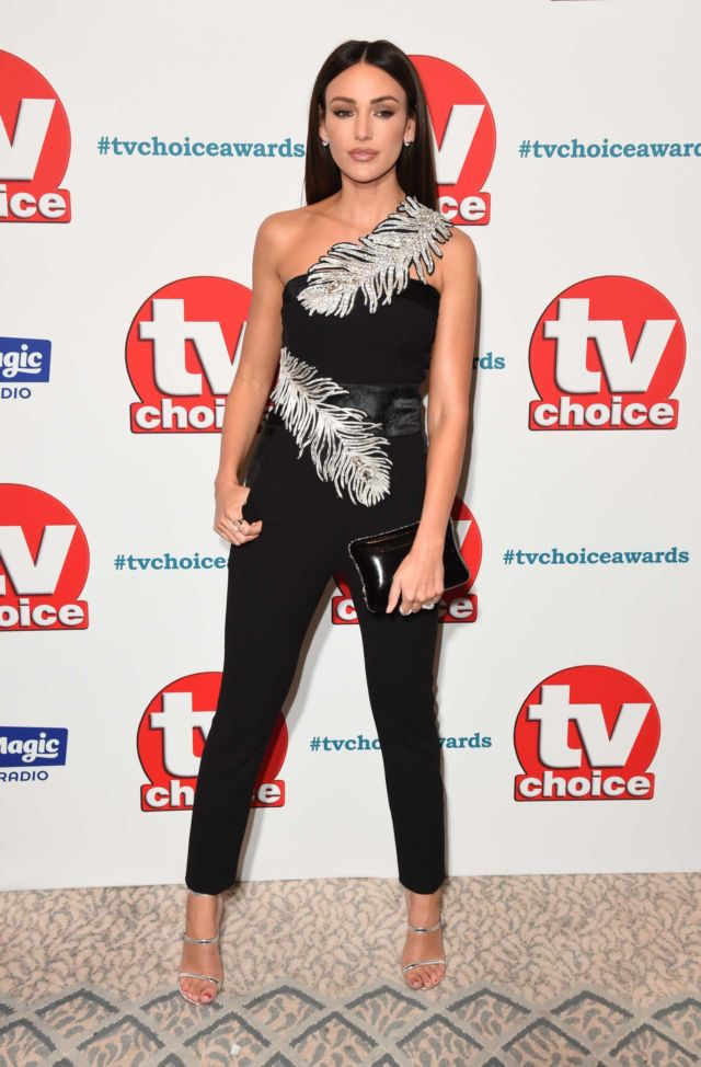 Beautiful Michelle Keegan In Black At TV Choice Awards