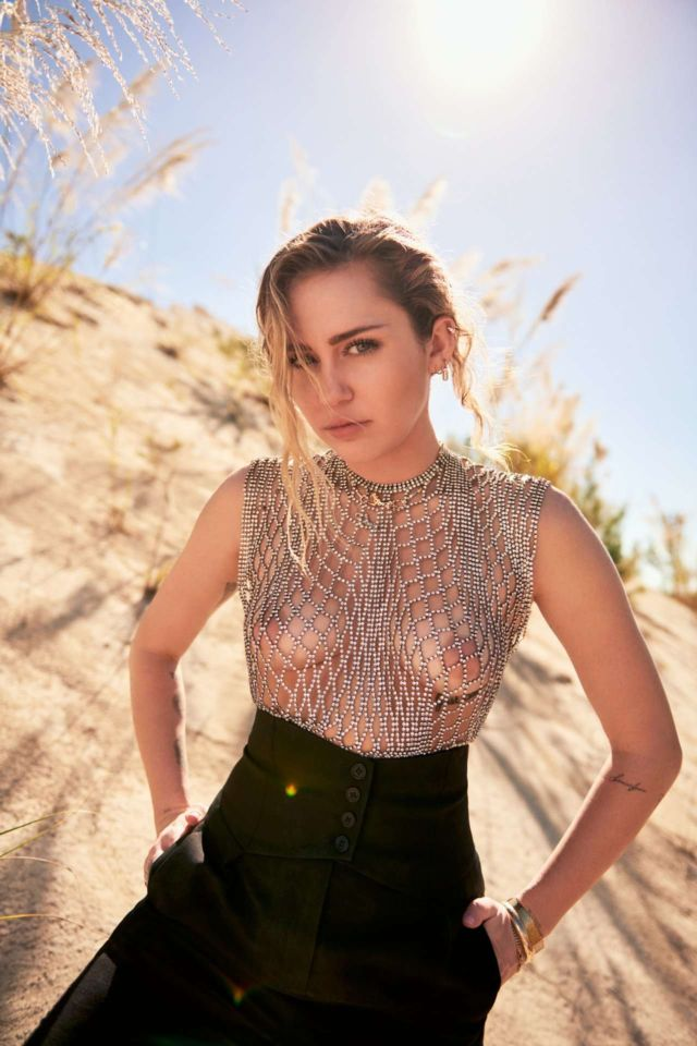 Miley Cyrus Shoots For Vanity Fair Magazine's March 2019 Issue