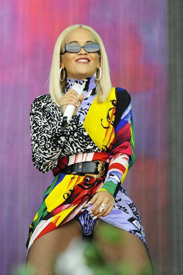 Colorful Rita Ora Performs Live At Radio 2 In London