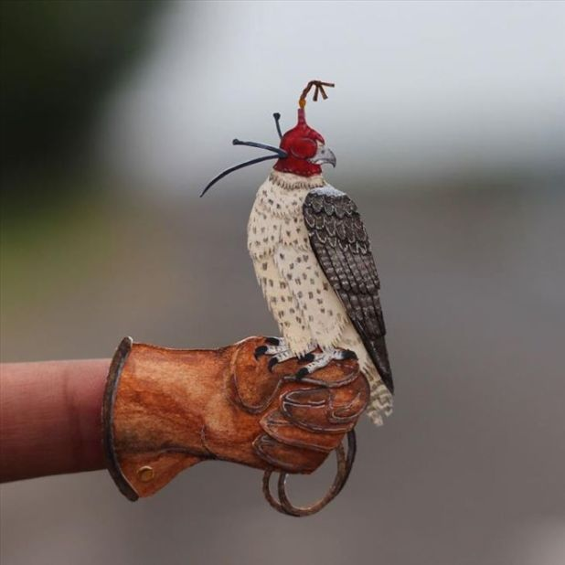 Beautiful Miniature Birds Created With Paper