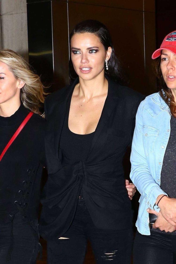 Gorgeous Adriana Lima Leaving Nobu In New York