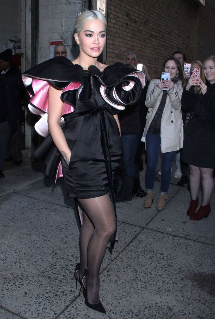 Rita Ora Candids While Leaving 'Live with Kelly & Ryan' Show