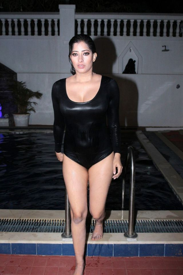 Niharica Raizada Takes A Dip In The Pool