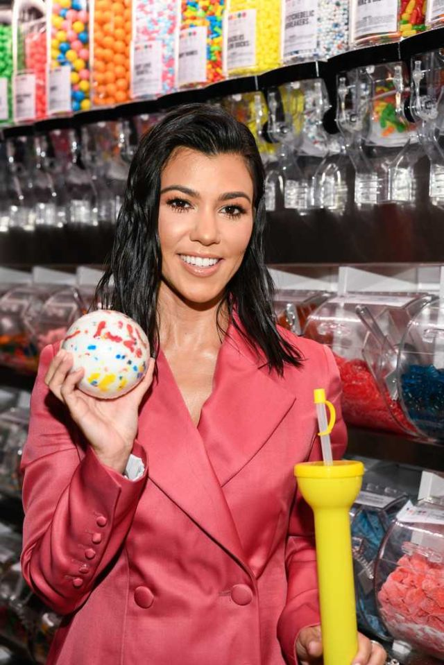 Kourtney Kardashian Attended The Sugar Factory Grand Opening Bash