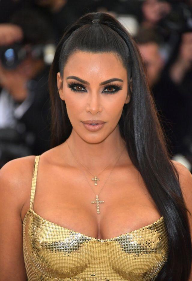 Kim Kardashian In A Golden Dress At The MET Gala 2018