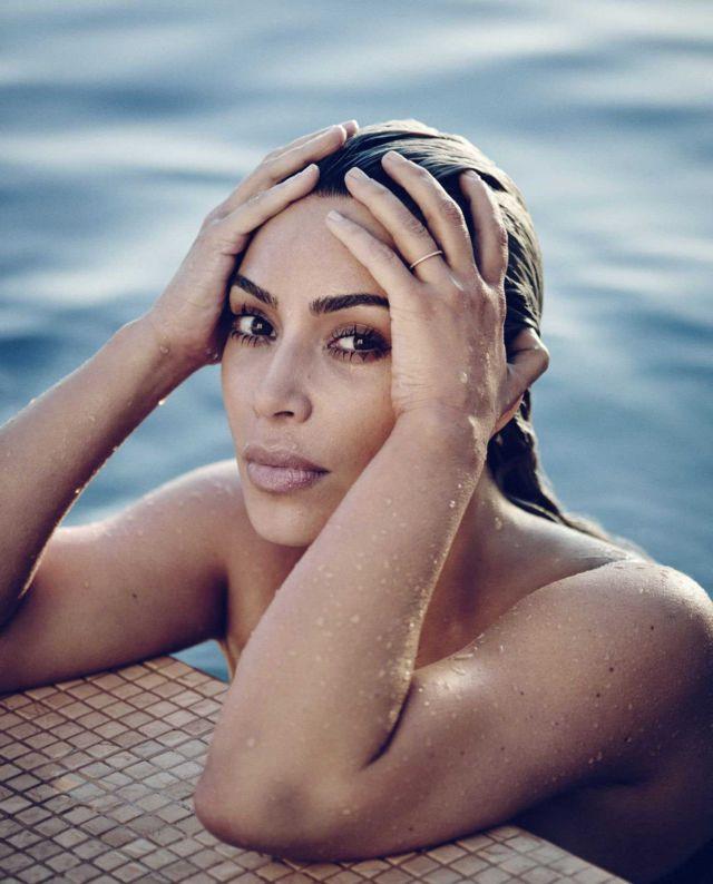Kim Kardashian Exclusive Shoot For ELLE Magazine April 2018