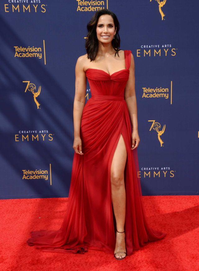 Padma Lakshmi Shines In Red At Creative Arts Emmy Awards
