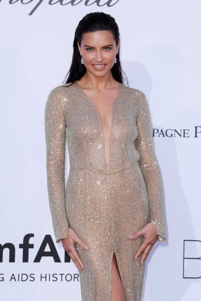 Adriana Lima Attended The amfAR's 25th Cinema Against AIDS Gala
