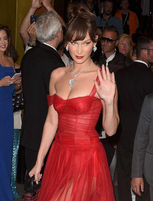 Glamorous Bella Hadid Attends Dior x Madame Figaro Event