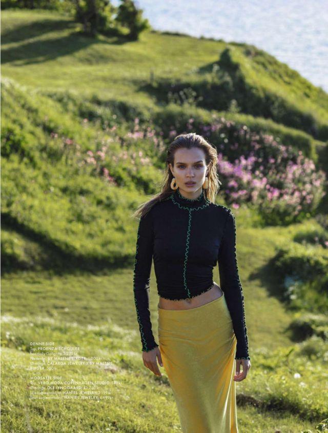 Glamorous Josephine Skriver In Elle Denmark Magazine (July 2019)