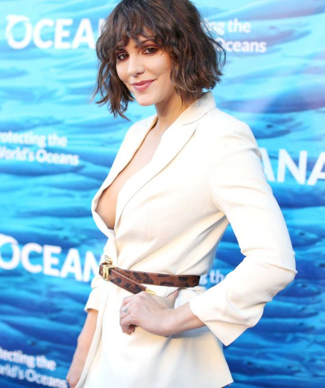 Gorgeous Katharine McPhee In White Dress At Seachange Summer Party