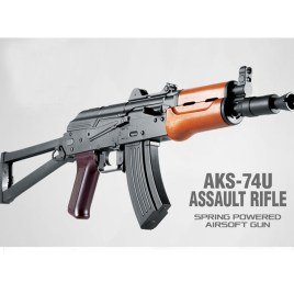 [AFG/T1C] Russian AKS-74U Low Power Airsoft Assault Rifle (Spring Powered)