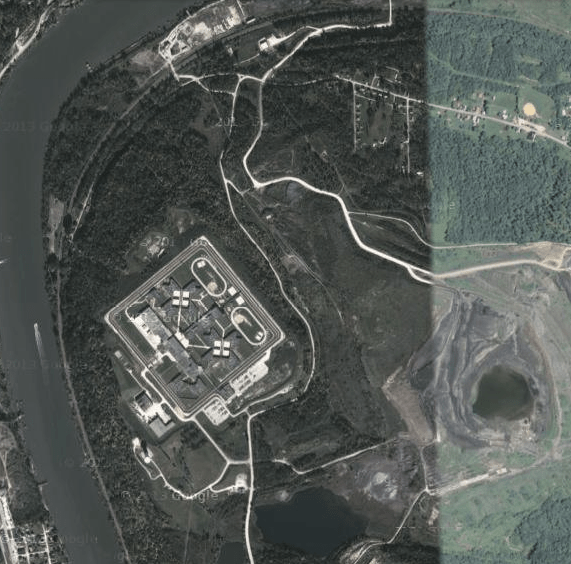 SCI Fayette and surrounding coal ash site