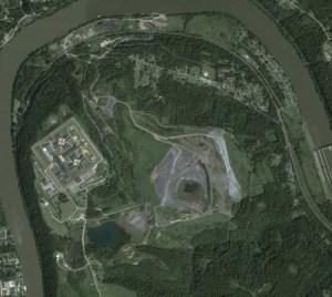 SCI Fayette and MCC's Coal Ash Dump, Google Earth 2014