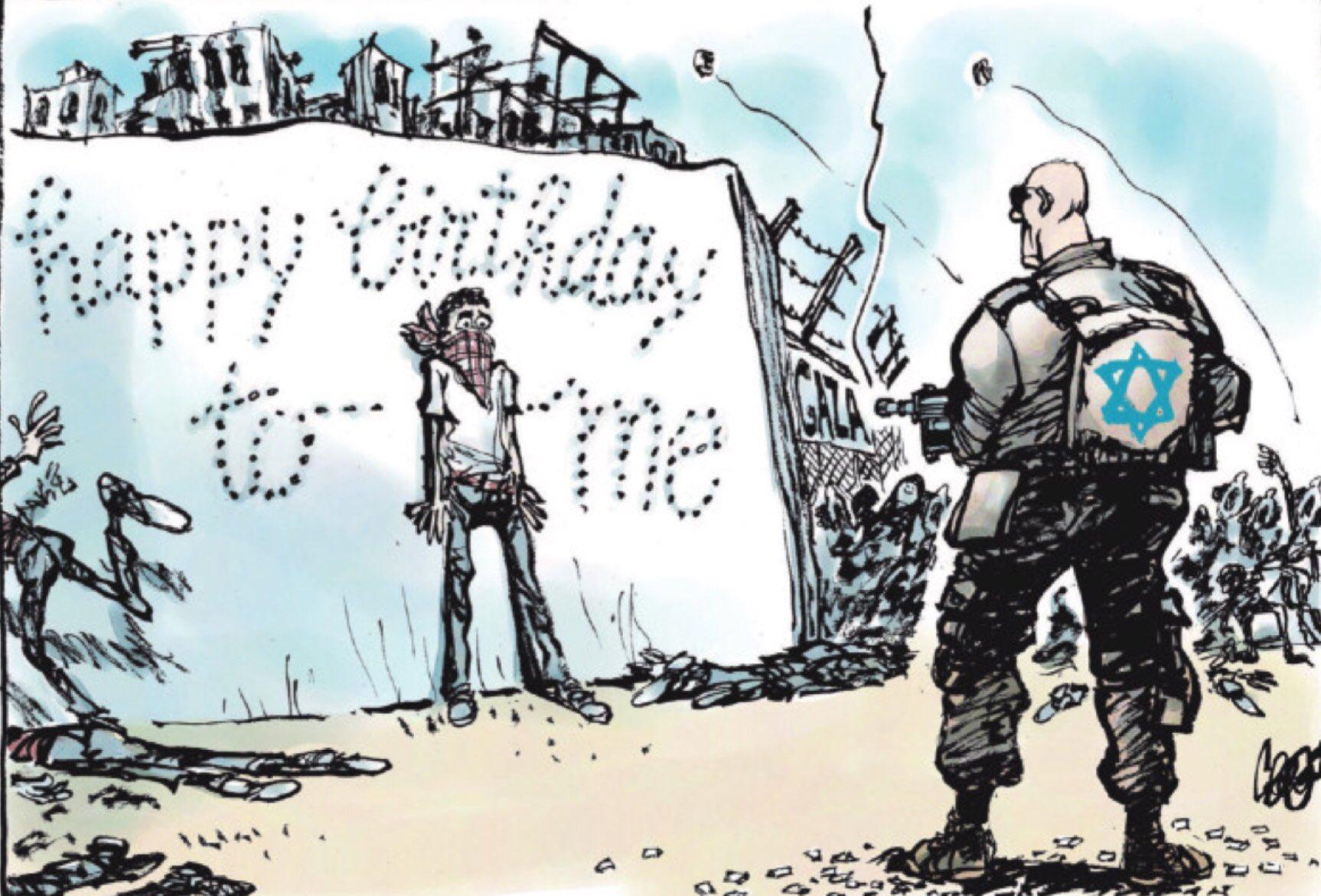 Cartoon van Jos Collignon, (c) de Volkskrant 21 april 2018
