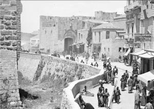 De oude stad van Jeruzalem rond 1900