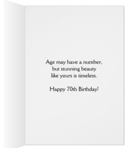 You Make 70 Look So Beautiful Card - Card for Mom on 70th Birthday